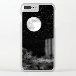 Alien Moon Clear iPhone Case
