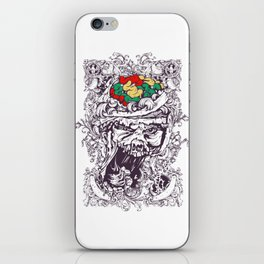 Skull with Brain OUT iPhone Skin