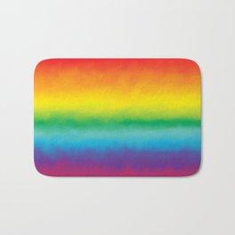 Watercolor Rainbow Bath Mat