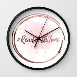 #ReadWithJane Logo Wall Clock