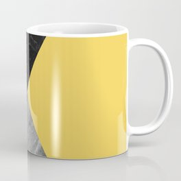 Black and White Marbles and Pantone Primrose Yellow Color Coffee Mug