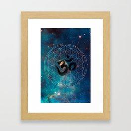 Om & Flower of Life Framed Art Print