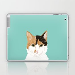 Calico Cat - Cute cat black, white, tan, orange tabby cat, cute kitten Laptop & iPad Skin