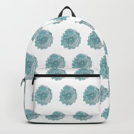 happy blue watercolor flowers Backpack