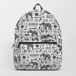 Africa Style Elephant Black And White Tribal Pattern Backpack