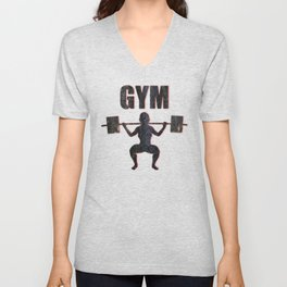 Gym Female Weightlifter Unisex V-Neck