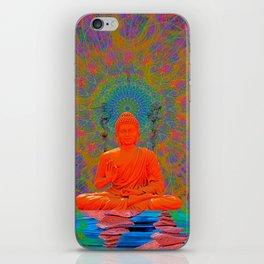 Cool Water Zen (Ultraviolet) (psychedelic, meditation) iPhone Skin