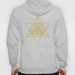 Golden Goodness Triangle Dance Sacred Geometry Abstract Design Hoody
