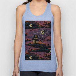 Halloween Night - Bonfire Glow Unisex Tank Top