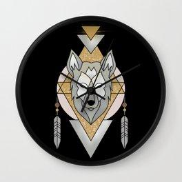 Mystic Wolf Wall Clock