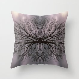 Oak tree before the storm Throw Pillow