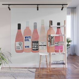 Rose Bottles Wall Mural
