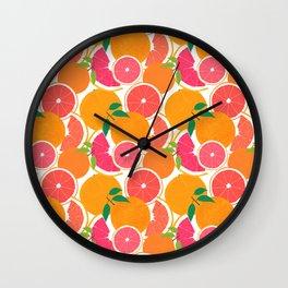 Grapefruit Harvest Wall Clock