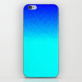 Blue ombre flames iPhone Skin
