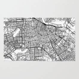 Amsterdam White Map Rug