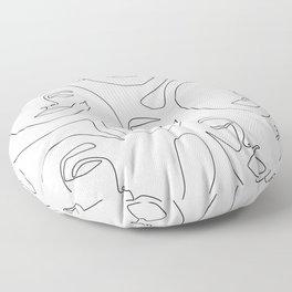 Her and Her Floor Pillow