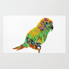 Iris By Van Gogh On Parrot By Annie Zeno Rug