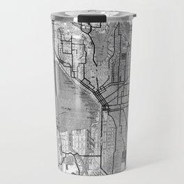 Vintage Map of Seattle Washington (1914) BW Travel Mug