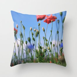 poppy flower no10 Throw Pillow