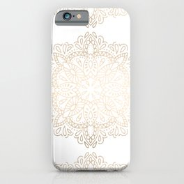 Mandala White Gold Shimmer by Nature Magick iPhone Case