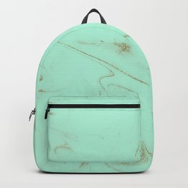 Elegant gold and mint marble image Backpack