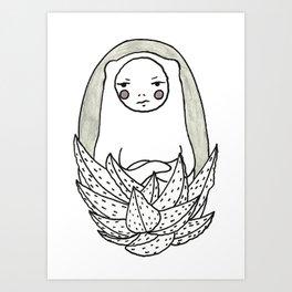 Moody Cactus  Art Print