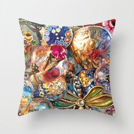 Ruby Liberty Dragonfly Throw Pillow
