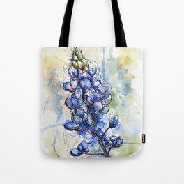 Spring Watercolor Texas Bluebonnet Flowers Tote Bag