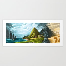 An Ancient Land Art Print