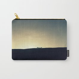 Sunset with horses Carry-All Pouch