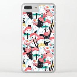 Kawaii Sushi Crowd Clear iPhone Case