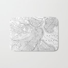 Vintage Map of Boston (1878) Bath Mat