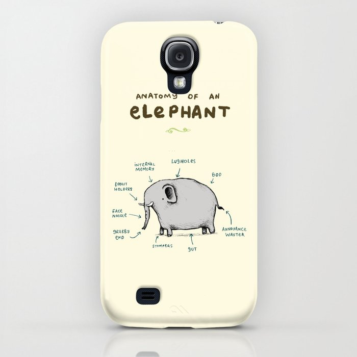 Anatomy of an Elephant iPhone Case by sophiecorrigan | Society6