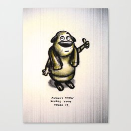 Towel Day :) Canvas Print
