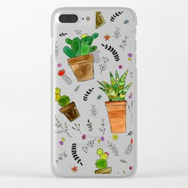 Houzz Plants Clear iPhone Case