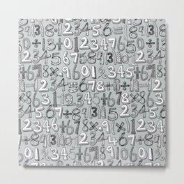 math doodle silver Metal Print