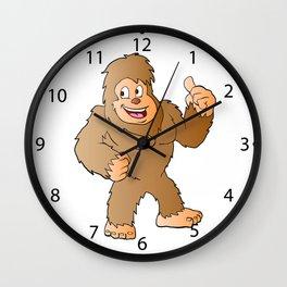 Bigfoot cartoon Wall Clock