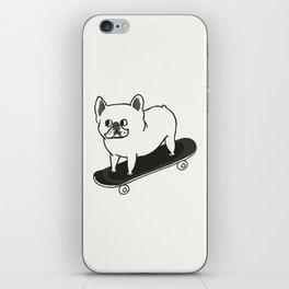 Skateboarding French Bulldog iPhone Skin
