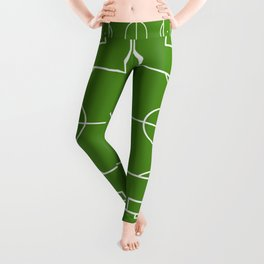 Football field fun design soccer field Leggings