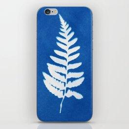 Fern leaf cyanotype lll iPhone Skin