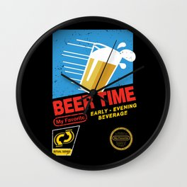 Beer Time Wall Clock
