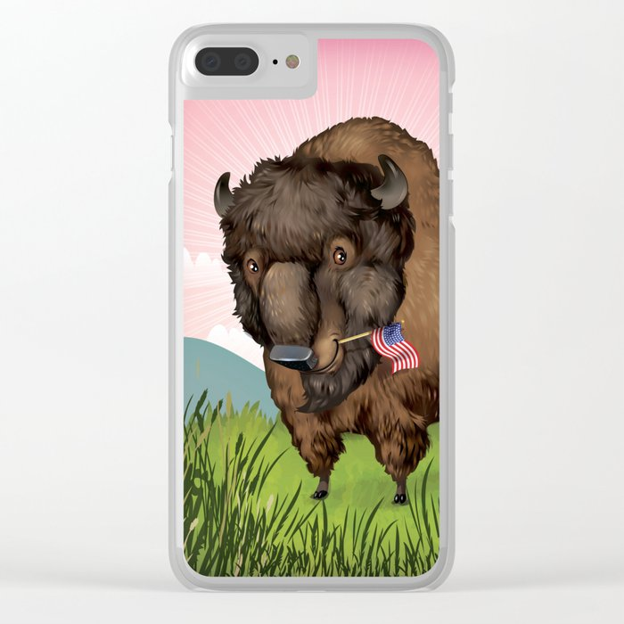 American Bison Clear iPhone Case