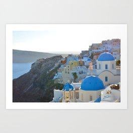 Blue Tops Art Print