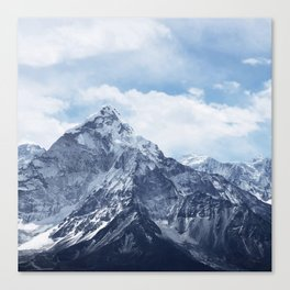 Snowy Mountain Peaks Canvas Print