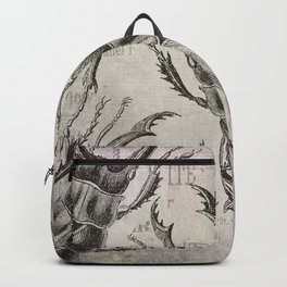 Grunge Style Stag Beetle Backpack