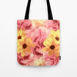 Summer Day Floral Tote Bag