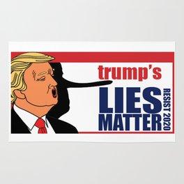 trump's Lies Matter Rug