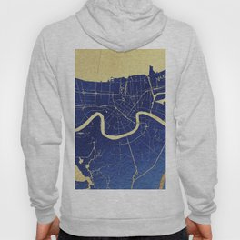 New Orleans Blue and Gold Map Hoody