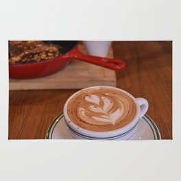 Caffe Macchiato with Breakfast - Cafe or Kitchen Decor Rug