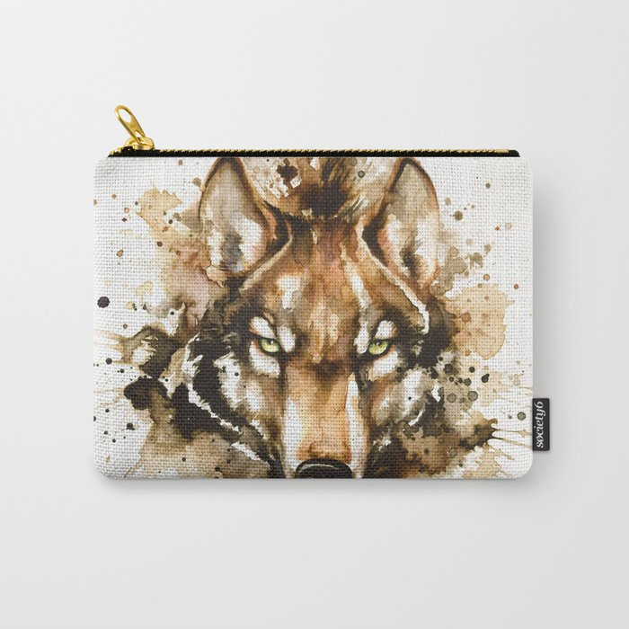 """""""Into the mirror"""" n°1 The wolf Carry-All Pouch"""